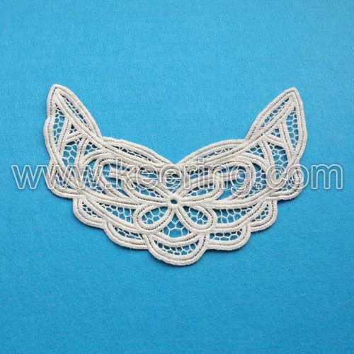 garment accessory cotton lace collar embroidery lace motif WLS-314