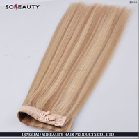 ZZH Hot sale beautiful virgin wholesale price halo hair extension