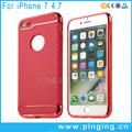 3in1 detachable electroplated hard pc soft tpu mobile phone cases for iPhone 7