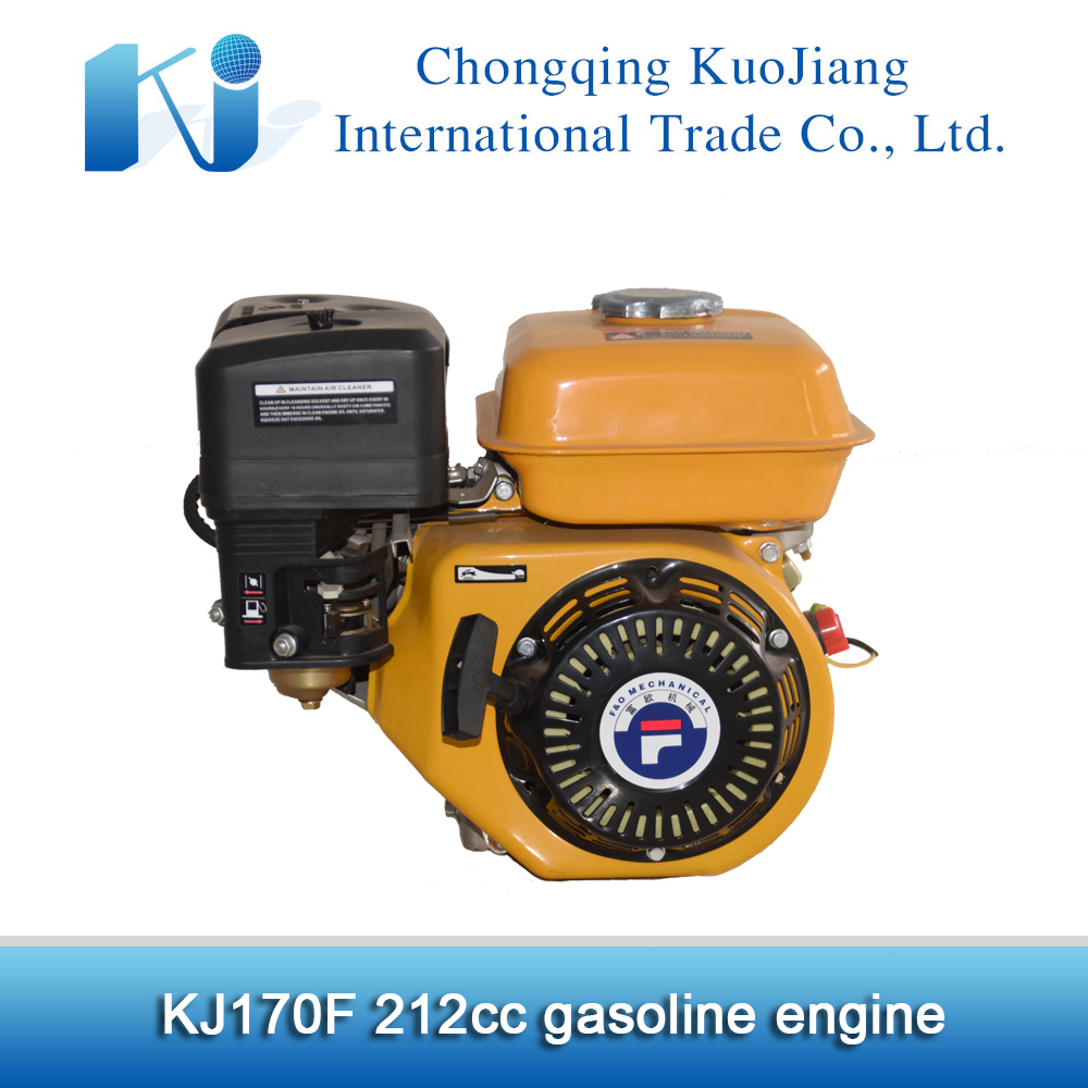 7hp 212cc horizontal shaft gasoline engine 170f