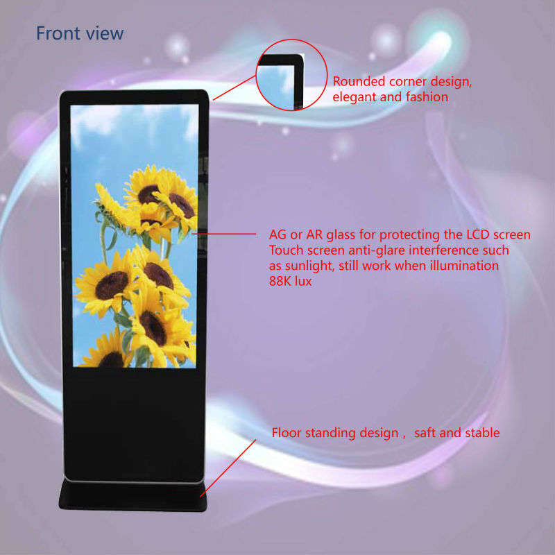 42inch shopping mall lcd advertising touch screen kiosk with Android 4.4/Wifi