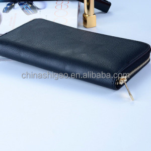 Black PU leather ladies clutch bag wallet