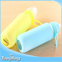 2016 silicone glass feeding bottle baby with sleeve