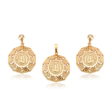 64789 xuping Islam gold plated Allah turkish gold jewelry set