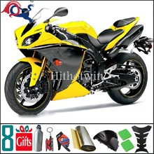 2009 2010 2011 2012 YZFR1 yellow Fairing YZF-R1 2009 2010 2011 2012 matte black Fit For yamaha YZF R1 2012