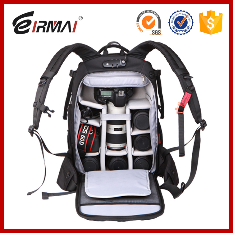 Fashion waterproof dslr camera case bagpack bag for canon 70d