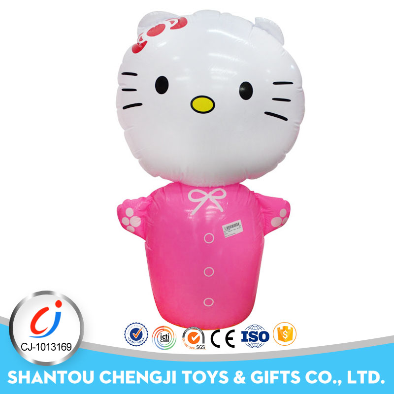 Customized High Quality giant cartoon tumbler inflatable cat