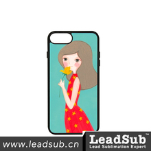 Sublimation Blank 2D PC+TPU Phone Case With Aluminum Sheet For Iphone7 Plus