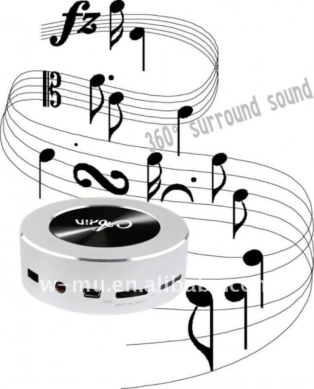 Mini caixa de SOM portátil) apoio TF cartão e rádio desktop vibração de áudio
