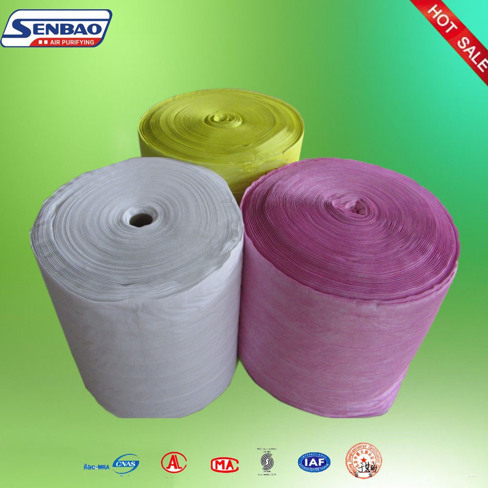 Replacement spray booth auto air filter materials