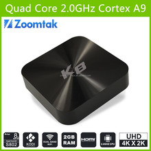 Hot selling Android tv box zoomtak K8 ott tv box android quad core amlogic S802 android tv box sata 8 core