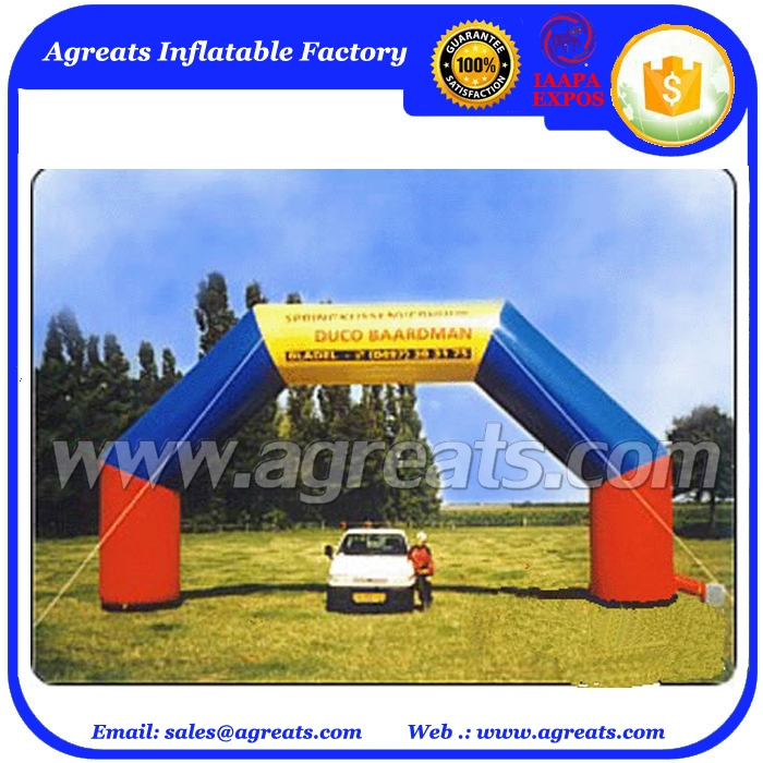 Customized logo durable 5m high PVC vinyl sponsor inflatable arches for promotion with high quality S5005