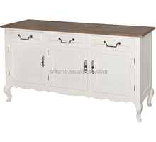 High quality hot selling solid wood white dining sideboard buffet