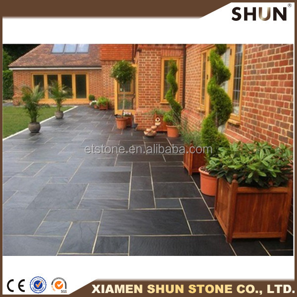Cheapest slate paving tile / Slate price m2/Nature face slate tile
