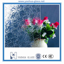 customized decorative patterned textured glass panels