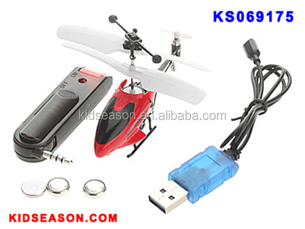 KIDSEASON 3.5CH INFRARED ALLOY RC MINI I-HELICOPTER WITH LED & GYRO - CONTROL BY IPHONE / ANDROID