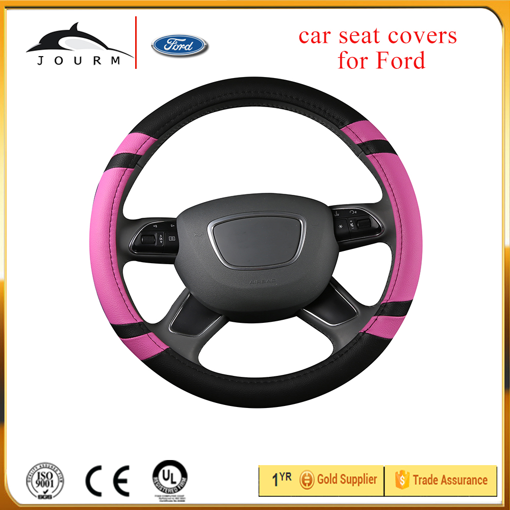100% sustainable eco-friendly products PU sport leather car steering wheel cover for hyundai coupe