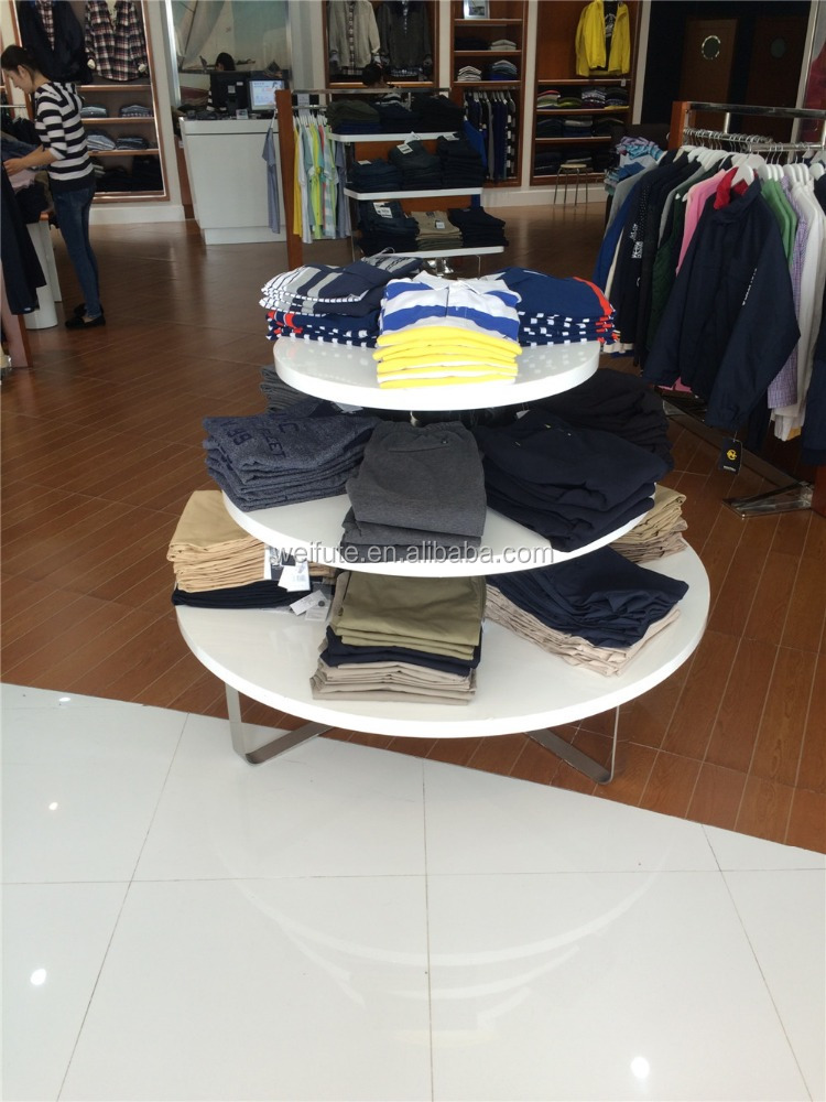 High end retail clothing display rack and clothing store furniture for retail garment shop interior design
