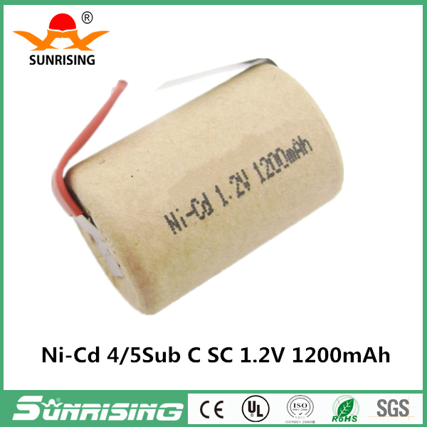 NICD 4/5 SC 1200mah 1.2V Rechargeable Battery With Tab For Electric Hand Tools