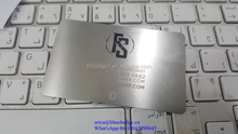 Manufacture customized printing stainless steel metal business card