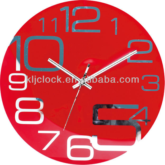 Quartz Rhythm Clock Glass Wall Clock