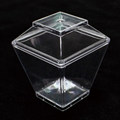 The Eco-friendly disposable plastic trapezoidal square cup set*