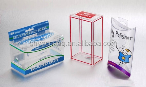 eco recyclable pvc clear plastic gift box manufacturer and exporter (YC7102)
