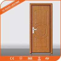 China 2016 New Design Interior PVC coated MDF Wooden Doors for modern house