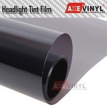 AXEVINYL Premium Smoke Black Headlight Tint Film