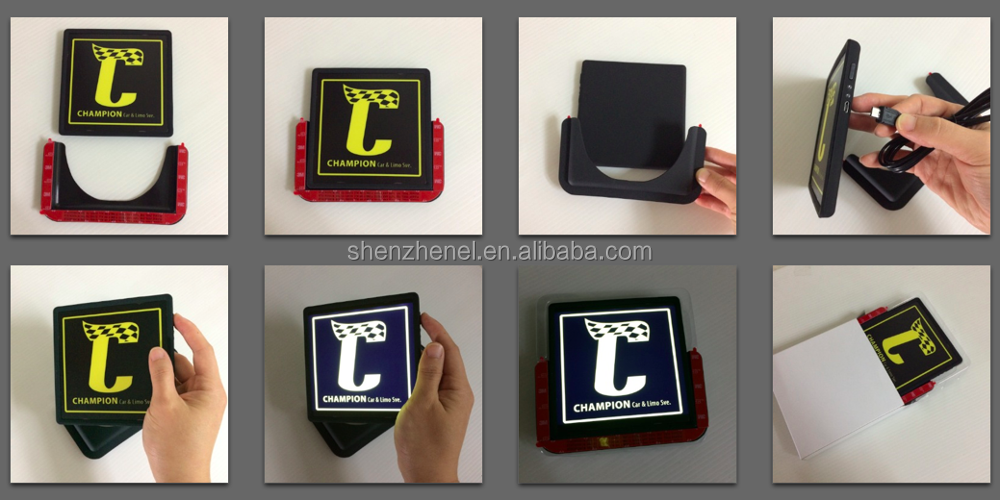High quality U square LED light with customized logo for car service