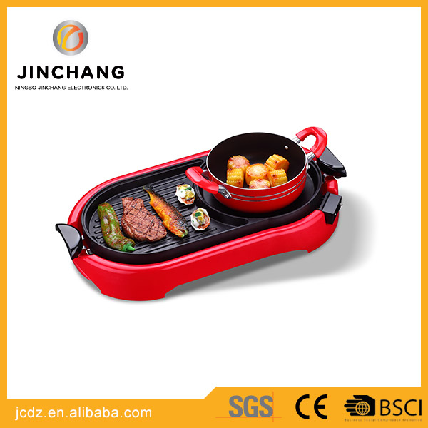 Safety and environmental protection mini Multifunction Electric BBQ Grill with hotpot