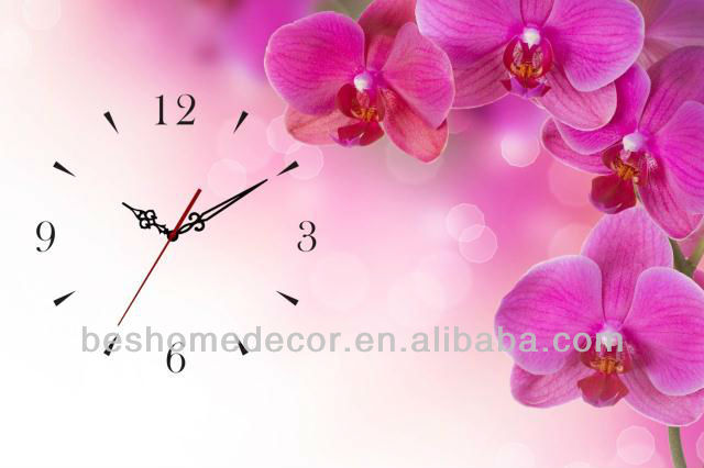 winter decoration clock, landscape Canvas Painting Clock,winer scenery clock