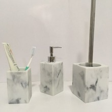 White marble Lotion pump resin bathroom bath accessory lotion dispenser