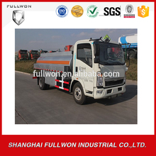 CNHTC Small 4000 liters fuel tank truck for sale