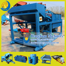 China Supplier Shandong Hengchuan Skid Type Mobile Trommel Gold Washing Plant for Gold Separation