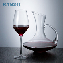 SANZO wholesale lead-free crystal glass handmade blown red wine glass wine glasses A05RW0057