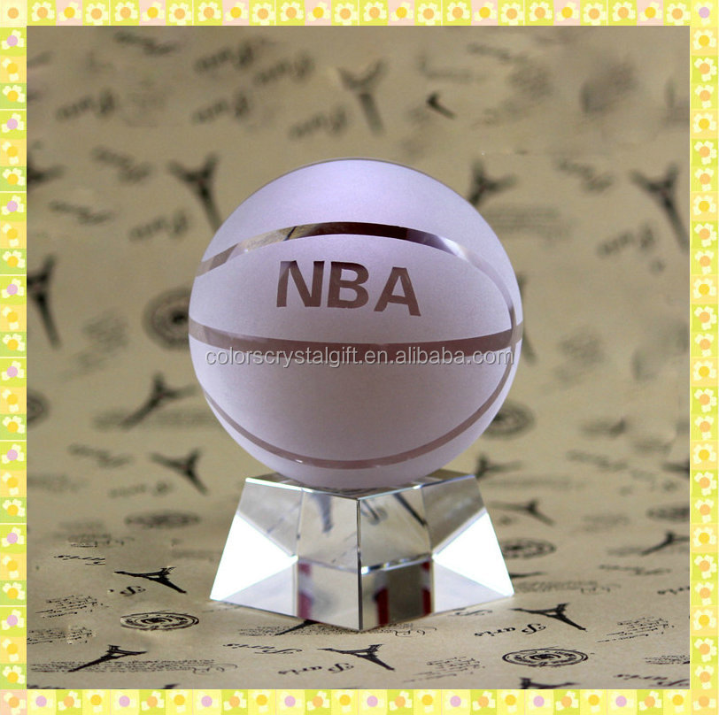Personalized 80mm K9 Crystal Ball With Engraving For Promotional Market Items