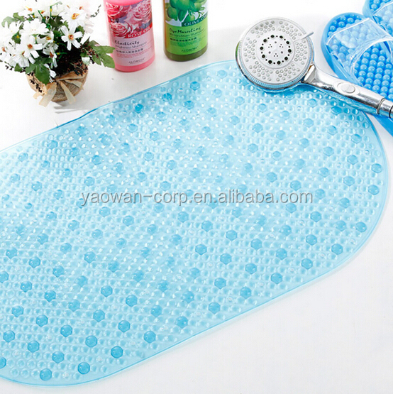 69X38CM PVC cushion bath mat with suction cups