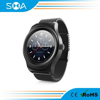"1.3"" full round IPS display touch screen smart watch"