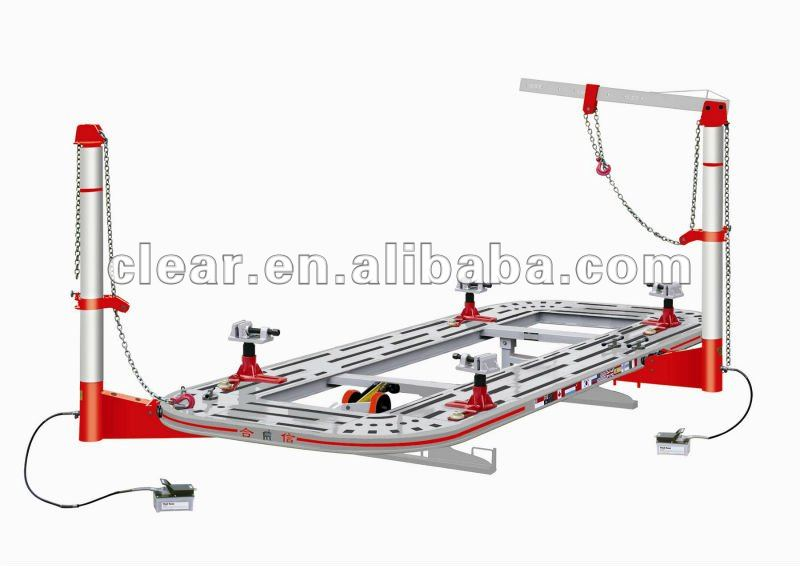 Hydraulic work bench for car repairs with Two Pulling Tower, 6mm Thick Tubular Steel H-601