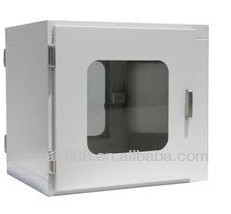 Clean Room White Color Plastic Sprayed Cold Rolled Steel SUS 304 SUS 201 Stainless Steel Mechanical Interlocked pass box