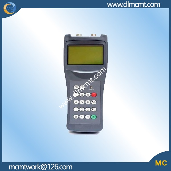 handheld gas/air/liquid ultrasonic flowmeter with widescreen
