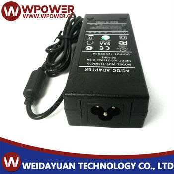 12 Volt DC LED - 5 Amp (12V 5A) Power Supply UL SAA FCC