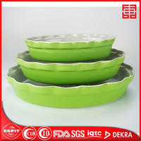 "factory direct wholesale nice porcelin 13/11/9"" set of 3 ceramic oval baking dish"