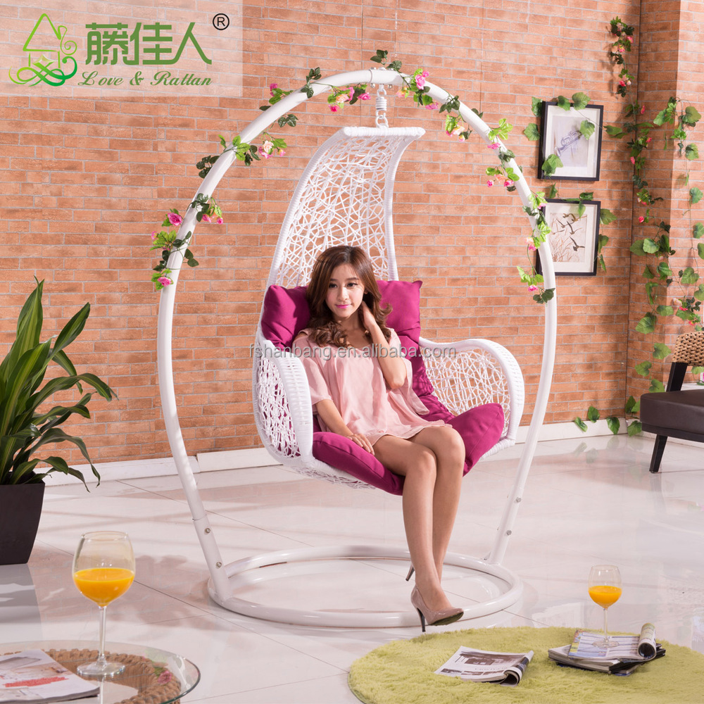 Super Comfortable 360 degree turning around Wedding Hanging Porch Swing