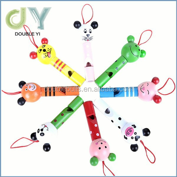 Hot sale Educational Animal shaped Whistle Wooden Whistle Toys for children