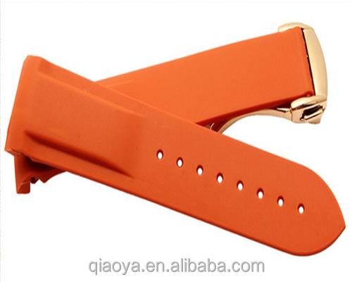 unisex silicone watch straps 20mm 22mm luxury type rubber material watch strap
