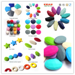 Food grade silicone teething beads for necklace and jewelry