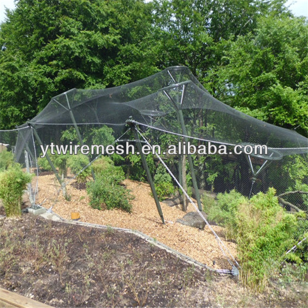 High Strength SS304 Aviary <strong>Netting</strong> For Animal Park Shelter