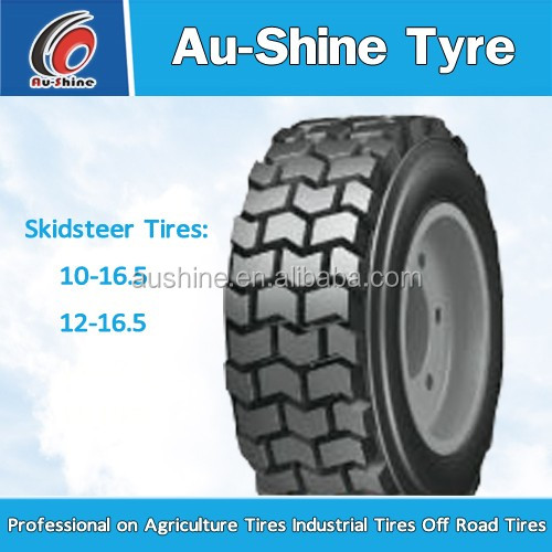 Wheel Loader backhoe Type tyre 10-16.5 12-16.5 14-17.5 15-19.5 and 2012 Year mini skidsteer loader tires exporting from China